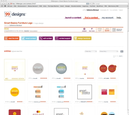 99 Designs Smart Basics Screen Shot
